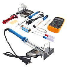 10in1 60W Solder Stick & Solder Sucker & Multimeter Soldering Iron Set Kit 110V