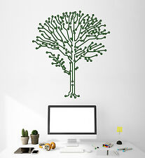 Vinyl Wall Decal Chip Tree Geek Engineer Computer Stickers Murals (ig4904)