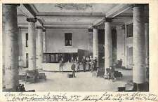 Dayton Ohio Algonquin Hotel Lobby Interior Antique Postcard K26247