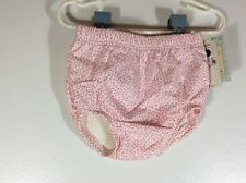 vintage baby girls cloth lined diaper cover size Small 0-3 months pink 39