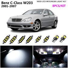 8Pcs HID White 6000K Interior Dome Light Kit LED Fit 2001-2007 Benz C-Class W203
