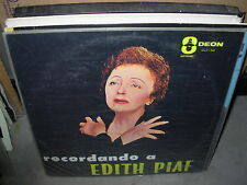 EDITH PIAF recordando a ( world music ) - odeon -