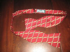Beau Ties Ltd. of Vermont All Silk Bow Tie Red & Gold Very Gently Worn!