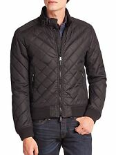 ~$500 Polo Ralph Lauren Men's Quilted Moto Bomber Jacket Coat *SM* _Black_