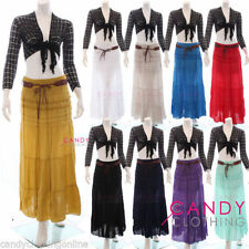 Full Length Cotton Casual Maxi Skirts for Women