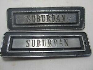 69 Plymouth Fury I Suburban Wagon Fender Emblem Script Nameplate Pair USED
