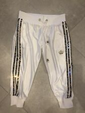 ADIDAS RESPECT ME by MESSI White Cropped Joggers Pants with Sequins   38
