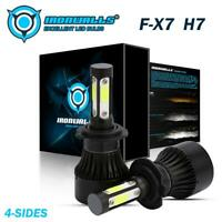 IRONWALLS Motorcycle 2400W 360000LM H7 LED Headlight Driving Bulb 6500K White