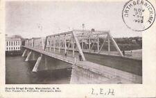 Postcard Granite St Bridge Manchester NH 1905