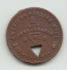 The American Rolling Mill Co. 5 cents coal scrip token Nellis West Virginia 588