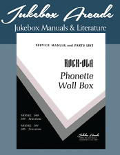"Rock Ola Model 500 and 501 ""Phonette"" Wall Boxe Complete Service / Parts Manual"