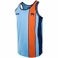 Venum Herren Tank Top Cutback UVP 27,99 Blau-Orange T-Shirt MMA Muay Thai SALE