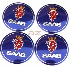 56mm Saab 9-3 9-5 9000 Wheel Center Hub Caps Emblem Badge Decal Symbol Sticker