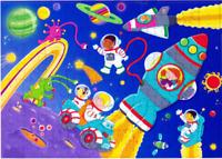 KERLUDE Puzzle Enfant 60 Pièces Fusée Et Cosmonautes 6 Ans +
