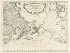 """""""Nouvelle Carte des decouvertes… par des Vaisseaux Russiens…"""" SANTINI 1784 map"""