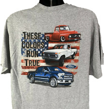 "Ford Trucks T-Shirt ""These Colors Run True"" American Flag 100 Anniversary"