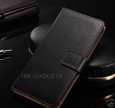 Genuine Real Leather Slim Wallet Flip Case Cover for Google Pixel