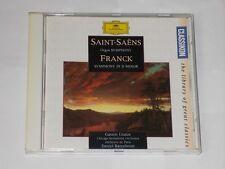 Saint-Saens/Franck Symphonies Gaston Litaize Daniel Barenboim CD Album.