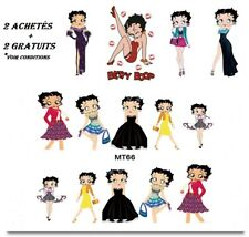 ❤️NOUVEAU STICKERS BETTY BOOP BIJOUX ONGLES WATER DECAL NAIL ART