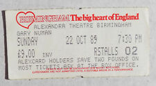 GARY NUMAN TICKET - Birmingham Alexandra Theatre 22 Oct 1989