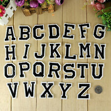 Letter A-Z Embroidered Iron On Patch Sew 26pcs Applique Accessories Pop