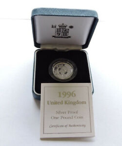 1996 Royal Mint Silver Proof £1 Celtic Cross Cased With COA