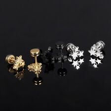 Fashion Pro  Women Star Silver Black Gold Surgical Stainless Steel Stud E Gift