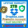 🔥👑Dropbox Premium 2TB ✔️ LifeTime Account 🔥 Custom Account 🔥 Fast Delivery ⚡