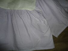Pottery Barn Kids Lavender Purple Lilac Gingham Bedskirt Ruffle Crib Skirt