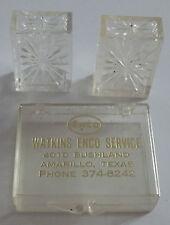 Vintage ENCO SERVICE STATION Amarillo, Texas SALT & PEPPER in Case ADVERTISING