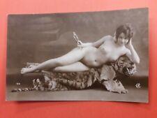Risque erotic postcard genuine original RP by CA no. 123