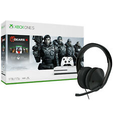 Xbox One S 1TB Console Gears 5 + Xbox One Stereo Headset Bundle [Brand New]