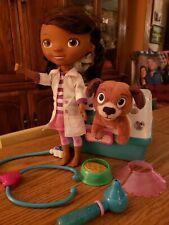 Doc McStuffins Doll, Pet Dog Fido Veterinarian Food Bowl Stethoscope Neck Cone