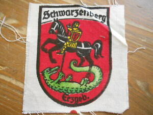 """Age GDR Sew-On Schwarzenberg """" For Backpack Hiking Souvenirs To 1955"""