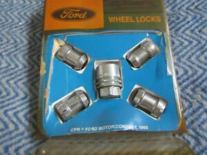 NEW 1991 - 2003 FORD ESCORT 2000 - 2007 FOCUS ANTI THEFT WHEEL LOCKS SET KIT