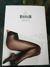 New Wolford neon 40 Anthracite tights Large