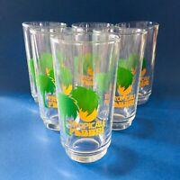 🔴 Tropicali FABBRI amarene set 6 bicchieri pubblicitari anni 70