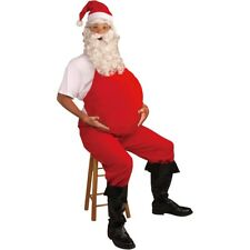 Santa Belly Stuffer Adult Pregnant Costume Christmas Halloween Fancy Dress