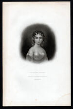 COUNTESS GUICCIOLI 1833 Thomas Anthony Dean - E C Wood  ANTIQUE ETCHING