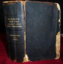 Parsons' Pocket Code 1915 New York Code of Civil Procedure