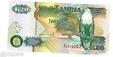 ZAMBIE Zambia Billet 20 Kwacha 1992 SERIE AA/AC P36 AIGLE NEUF UNC