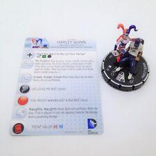 Heroclix The Flash set Harley Quinn #046 Rare figure w/card!