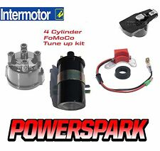 Ford Motorcraft 4 Cylinder Electronic Ignition Kit, Rotor Arm, Cap & Coil