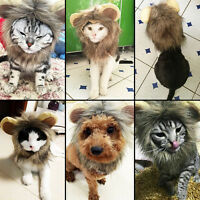 HOT Pet Lion Mane Wig Costume Halloween M Medium Dress Hat For Cat Dog Supplies