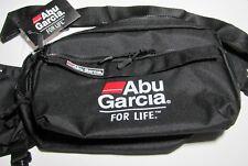 Abu Garcia Black Shoulder Strap Waistpack Fishing 7 Compartment Tackle Bag