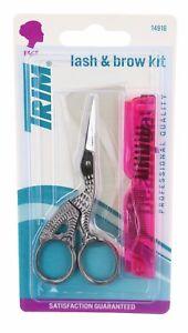 Eyelash and Eyebrow kit. Eyebrow Brush, Eyelash Scissors. 2 pc. D1/5-68B