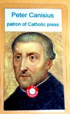 St PETER CANISIUS Relic Card patron of Catholic press, Germany