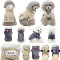 Dog Cat Winter Clothes Hooded Coat Punny Pet Cotton Apparel Warm British Jacket