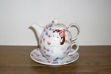 "Cavania Lesser & Pavey ""Simply Darling"" China Tea for One Set with Saucer."