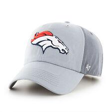 5f9338ad773cc Denver Broncos 47 BRAND Northside Clean up Hat Adjustable Cap 2 Tone Gray